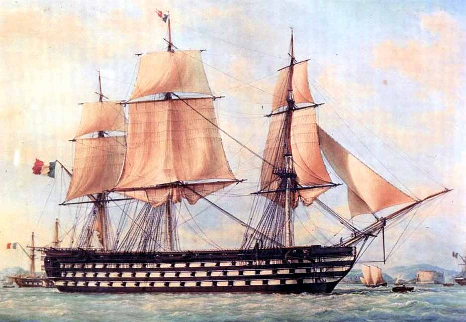 Navío de tres puentes francés Montebello, 1839