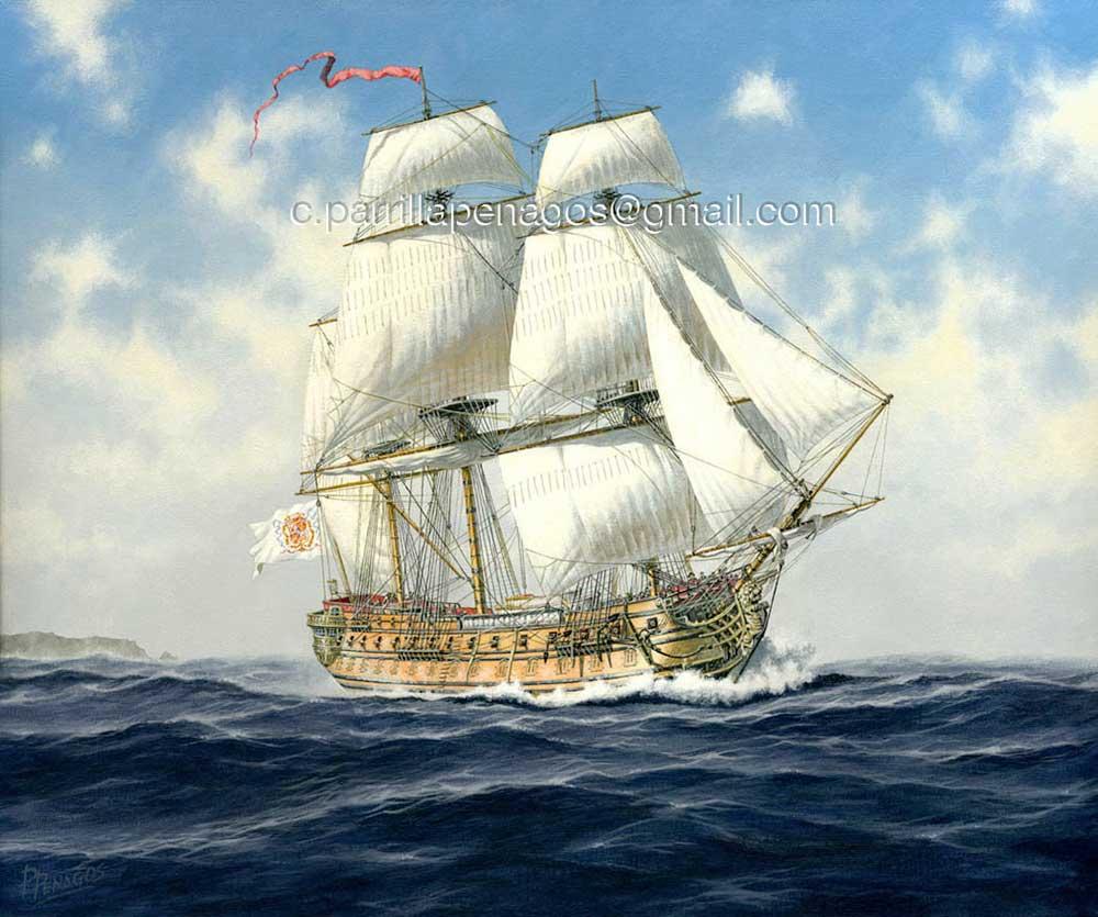 Pintura del nav o reina todo a babor for Todo sobre barcos