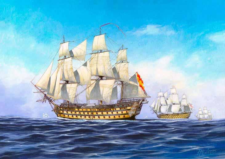 Navío San Hermenegildo de 112 cañones.