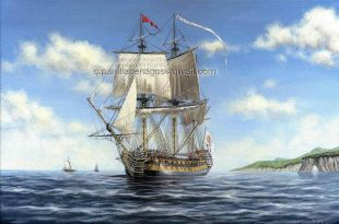 Pintura del navío Velasco, de Carlos Parrilla