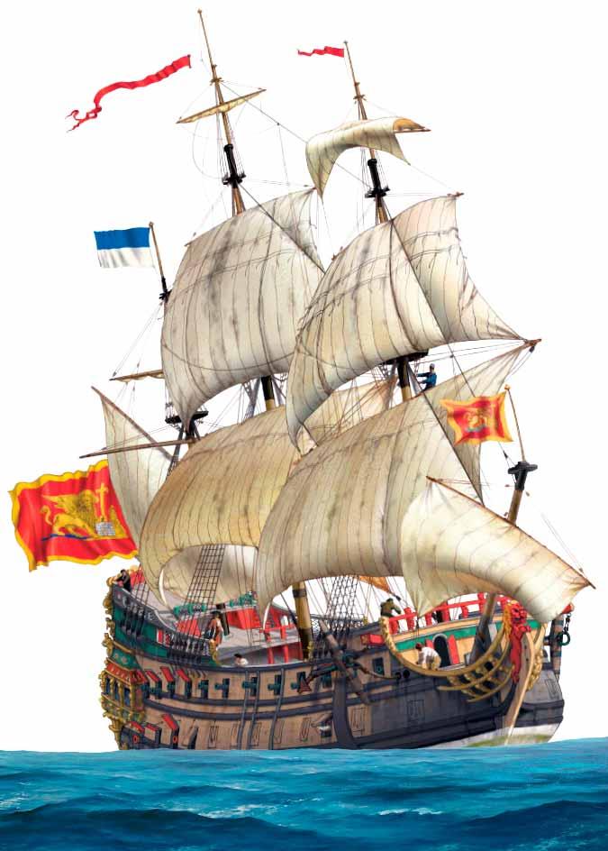 Navío de línea de una de las repúblicas italianas, en este caso Venecia, de mediados del siglo XVIII