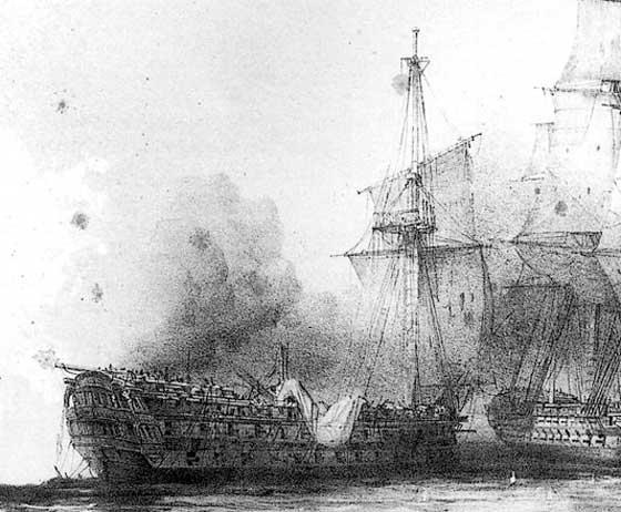 El navío británico Venerable desmantelado