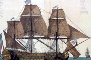 Navío francés Ville de Paris, botado en 1764