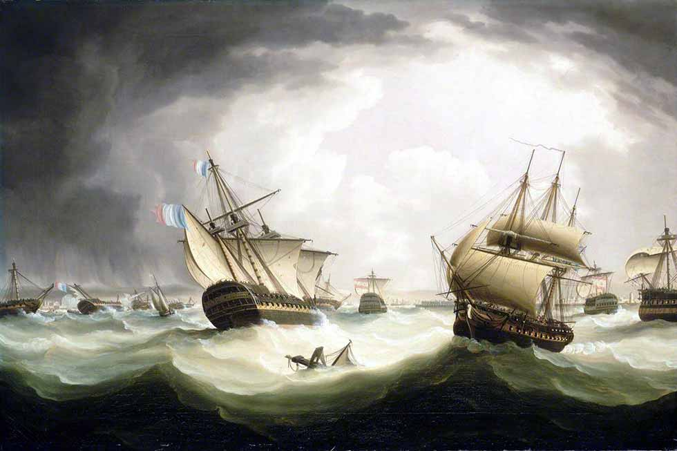 Navíos a la deriva tras la batalla de Trafalgar