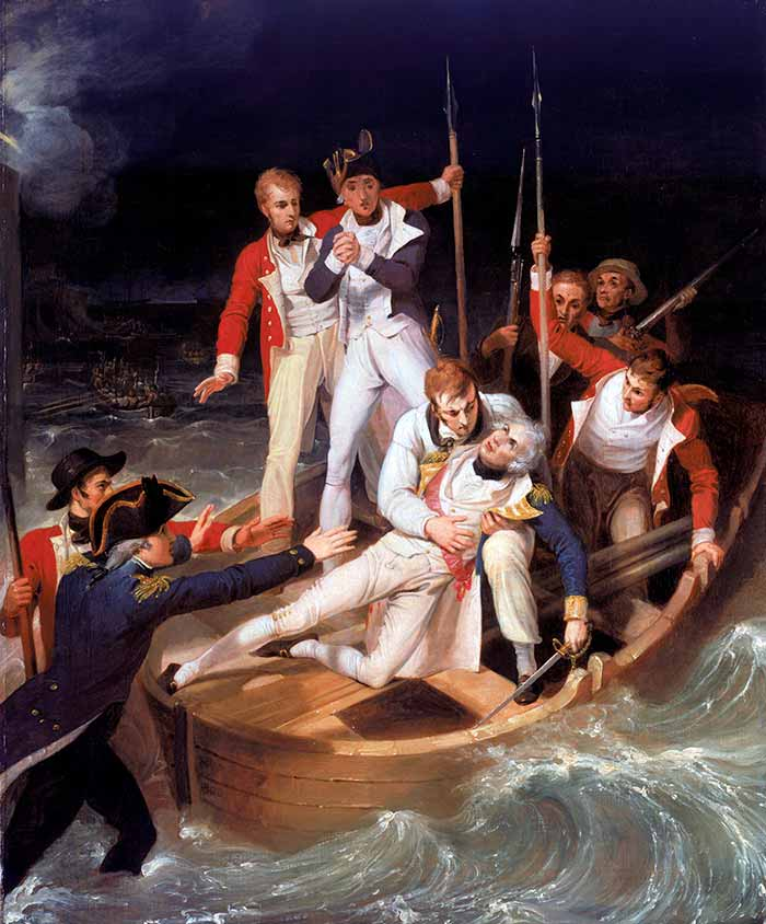Nelson herido en Tenerife, 24 julio de 1797