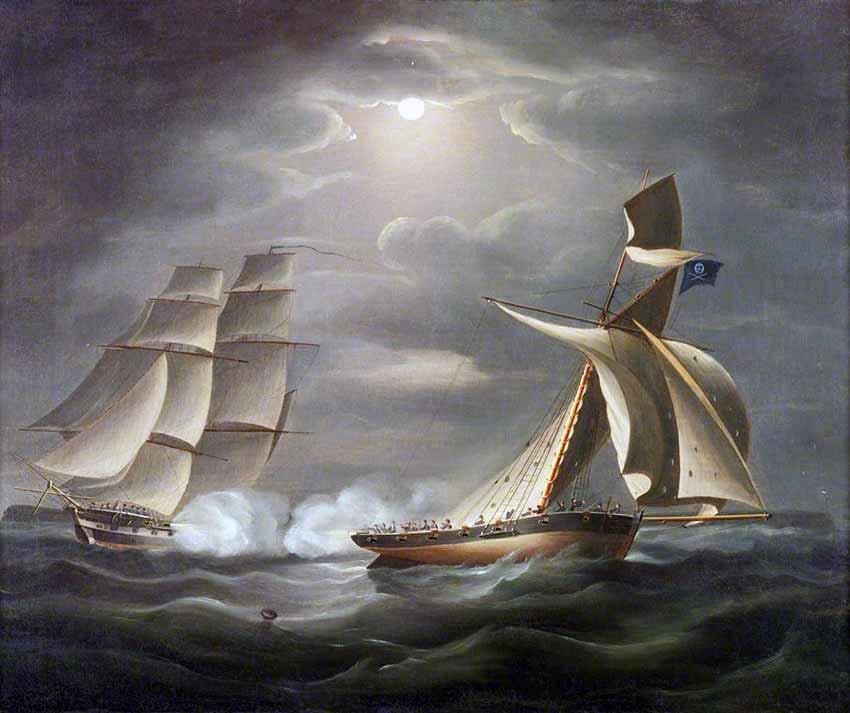 Persiguiendo a un buque pirata