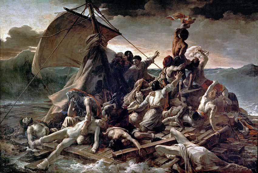 Pintura de la balsa de la Mesusa