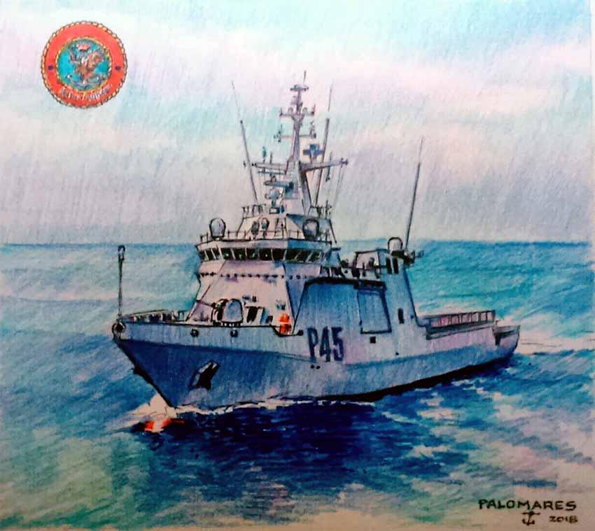 Pintura del BAM Audaz P-45