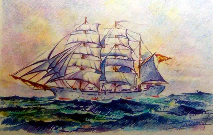 Pintura buque Galatea