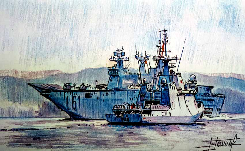 Pintura buque Juan Carlos I