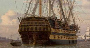Pintura de un navío de línea ruso
