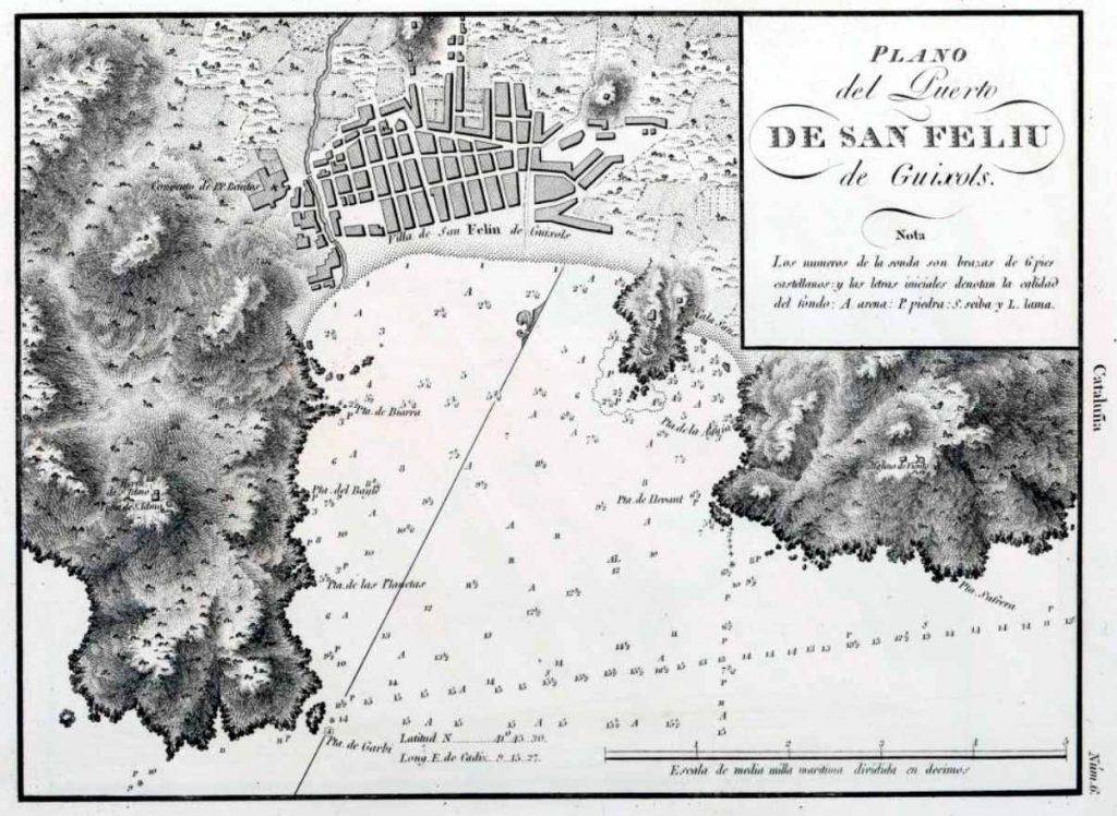 Plano del Puerto de San Feliu de Guixols (1813)