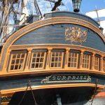 Popa de la fragata HMS Surprise