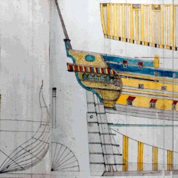 Ilustración del manuscrito recientemente adquirido por el Ministerio de Cultura para el Museo Naval de Madrid
