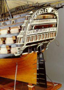 popa del navío Real Borbón