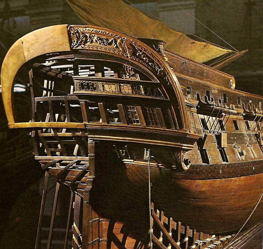 Popa del navío de línea San Juan Nepomuceno