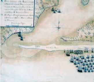 Primer movimiento del ataque a Pensacola en 1781