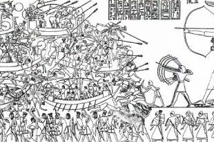 La primera batalla naval de la historia
