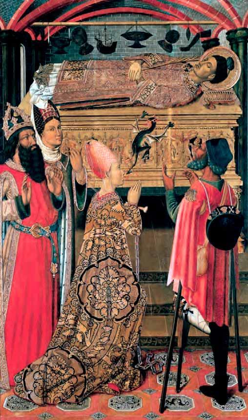 La princesa Eudoxia ante la tumba de san Esteban
