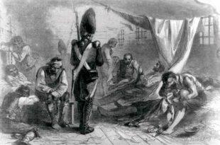 Prisioneros de guerra a bordo de un buque prisión
