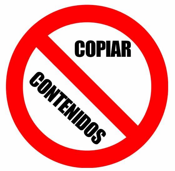 Prohibido copiar contenidos