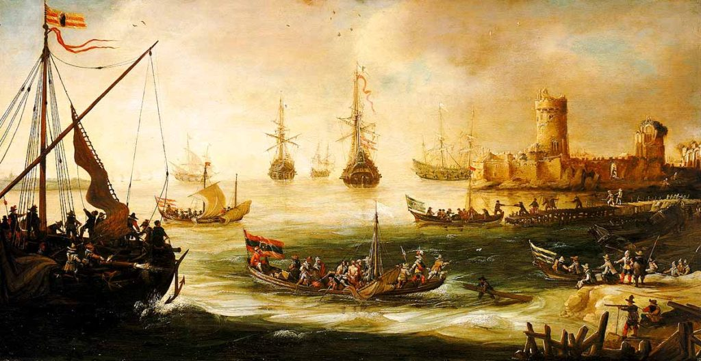 Regreso de una expedición española