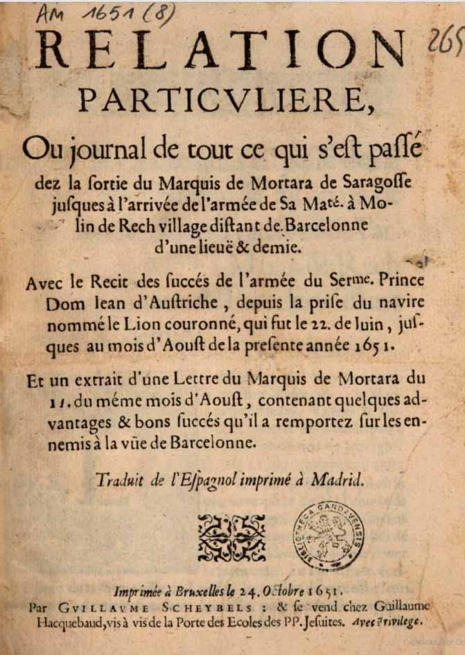 Relación del combate naval del 22 de junio de 1651 de