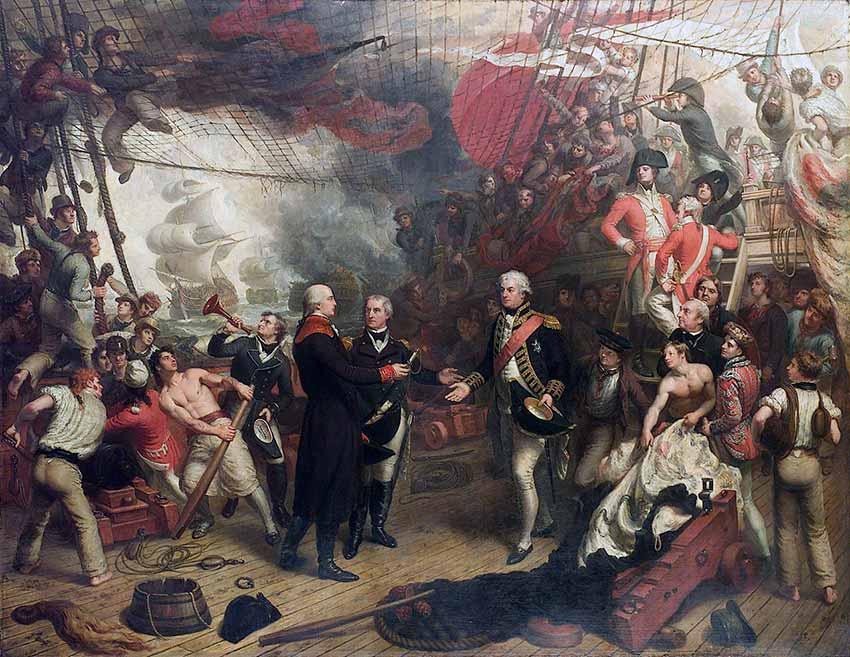 Rendición del almirante De Winter al almirante Duncan