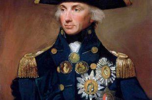 Retrato de Horatio Nelson con la medalla y el Chelengk turcos que le entregó el Imperio Otomano por su victoria en Aboukir