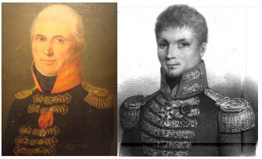 Retratos de oficiales franceses de la marina