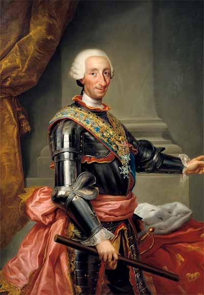Retrato del rey de España Carlos III de Borbón