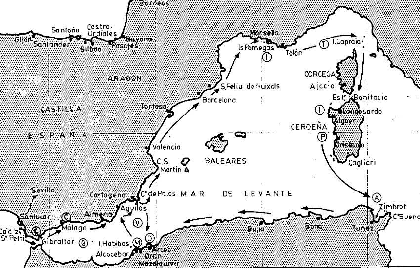 Campaña marítima de Pero Niño por el Mediterráneo