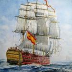 Navío Santísima Trinidad, de Rafael Castex
