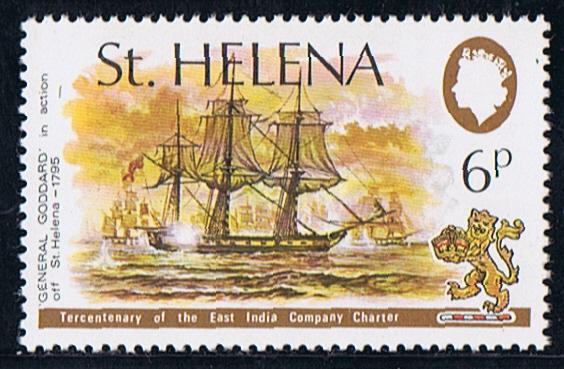 Santa Elena emitió un sello de 6 peniques el 17 de diciembre de 1973, que muestra el uso del General Goddard de la Compañia de las Indias Orientales Británica, que capturó a siete homólogos de las Indias Orientales Holandesas frente a Santa Elena.