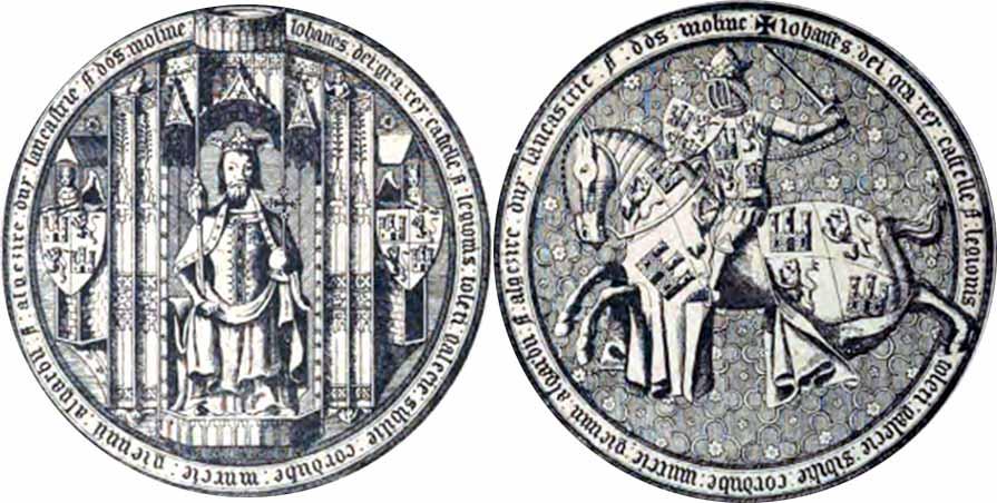 sello usado por el duque de Láncaster, pretendiente a la corona de Castilla