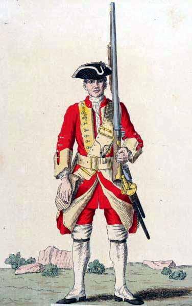 Soldado británico de 1740