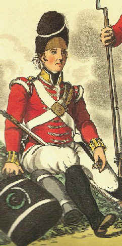 Soldado británico en 1814