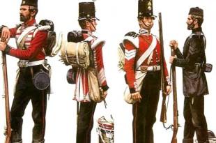 Soldados británicos de la guerra de Crimea