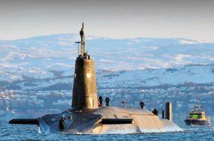 Submarino nuclear británico HMS Vanguard
