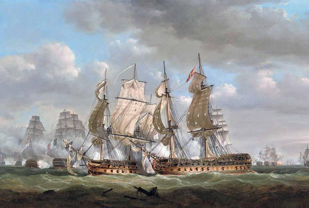 El navío Tonnant rinde al navío español Monarca.