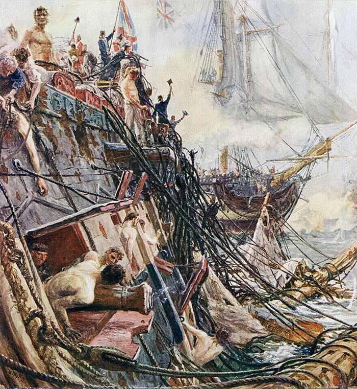 Navío tras una batalla naval