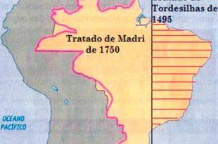 Mapa del Tratado de Madrid de 1750