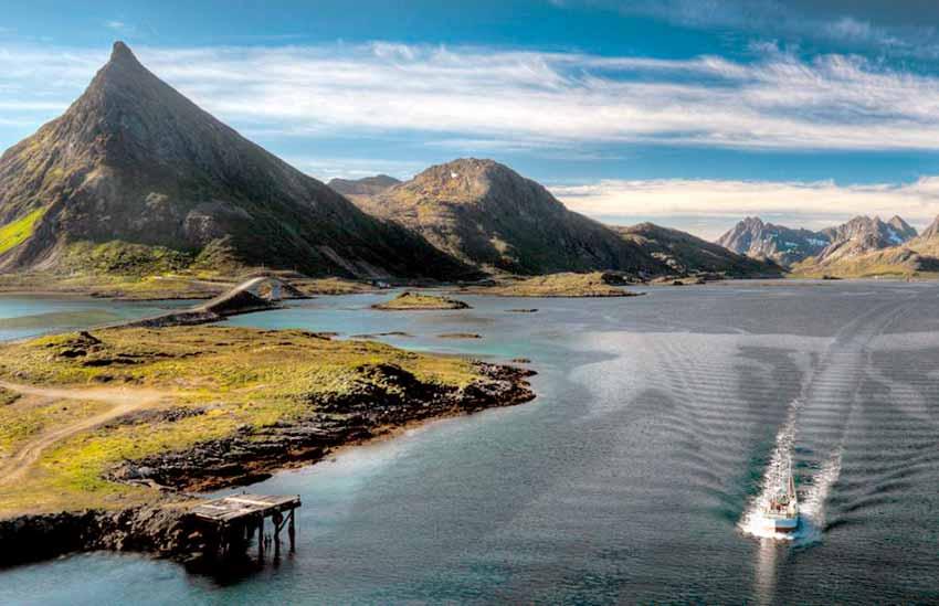Fiordos en Tvedestrand, Noruega