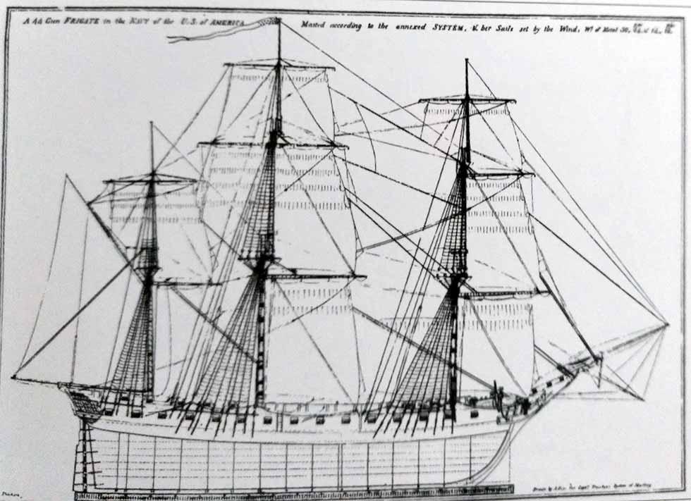 Velamen de las fragatas pesadas norteamericanas
