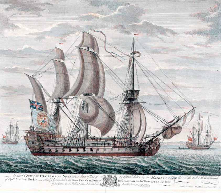 Vista de estribor del navío Glorioso