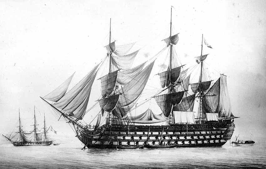 Navío francés Wagram de 120 cañones