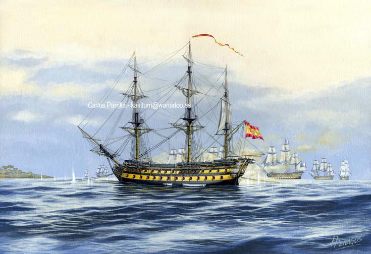 Historia del navío de línea Montañés