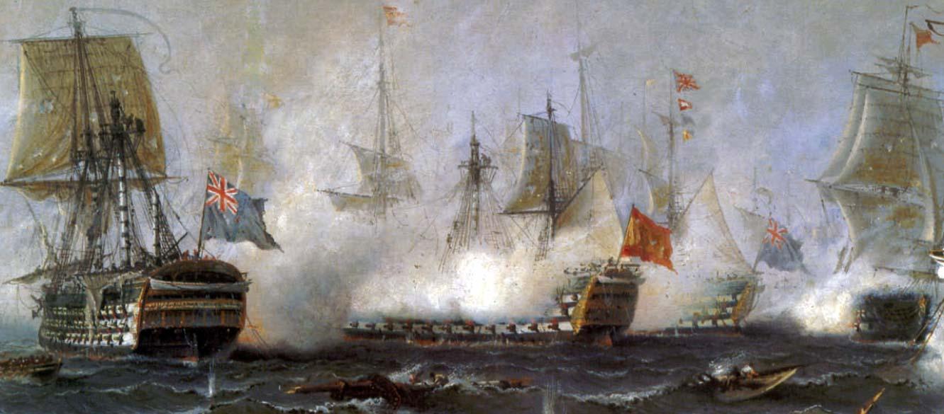 Combate del navío español Santa Ana en la batalla de Trafalgar